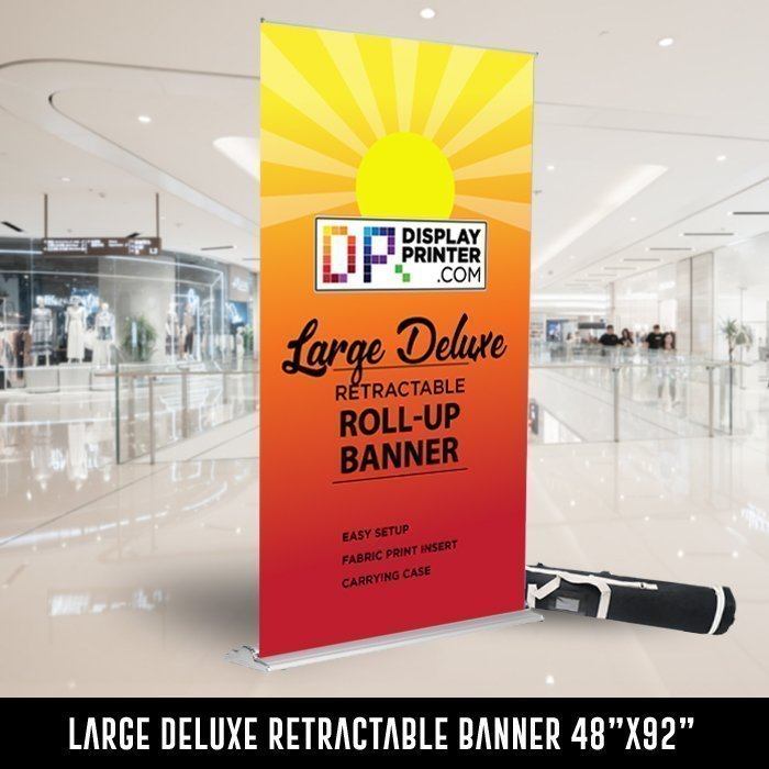 Large Deluxe Retractable Banner