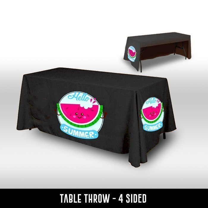Table Throw 3 Sided