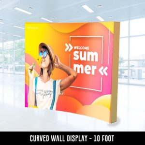 Curved Wall Display - 10 foot