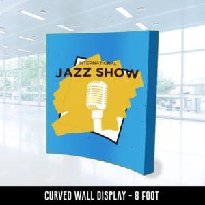 Curved Wall Display 8 feet