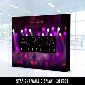 Straight Wall Display 10 Foot