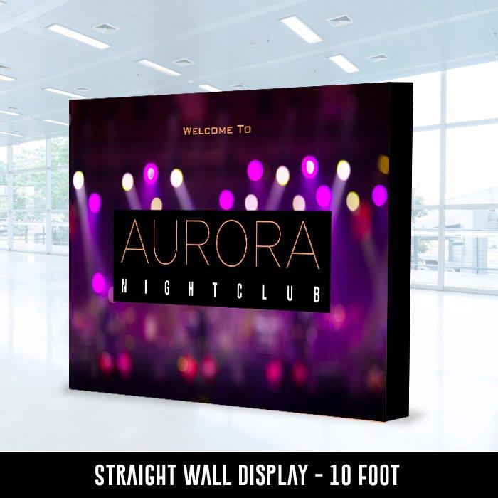 Straight Wall Display 10 Foot