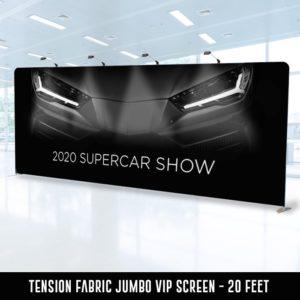 Tenson Fabric Jumbo VIP Screen - 20 Foot