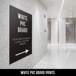 White PVC Board Prints