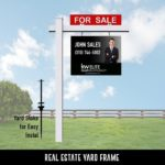 Real Estate For Sale Sign and Post