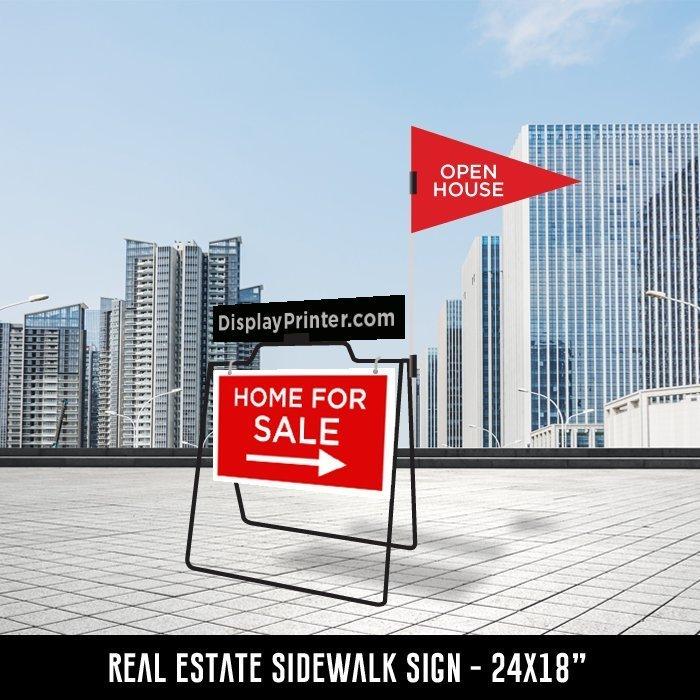 Real Estate Sidewalk Sign